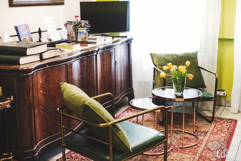 Recepcja i pokój wspólny Hotel Eden