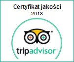 Trip Advisor Certyfikat jakości 2018